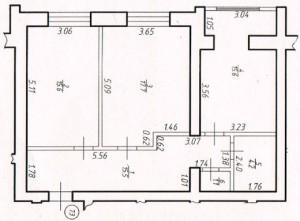 Двокімнатна квартра № 73
