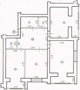 Трикімнатна квартира № 12
