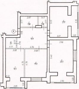 Трикімнатна квартира № 4