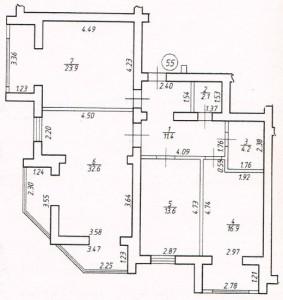 Трикімнатна квартира № 55