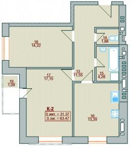 Двокімнатна квартира